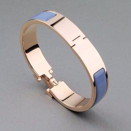 Design de alta qualidade moda feminina pulseira de aço inoxidável H pulseira de moda pulseiras de casamento pulseiras jóias em Promoção