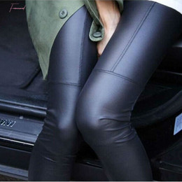 sexy black leggings girl NZ - Leggings 2019 Women Sexy Black Coffee Modal Leggin Plus Size Girl Patent Pants Leggings Free Shipping
