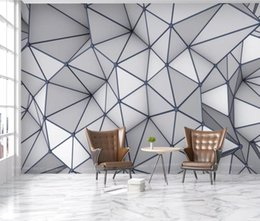 $enCountryForm.capitalKeyWord Australia - Abstract Geometric Pattern Wallpaper Roll 3D Mural for Bedroom Photo Wallpapers Wall Art Decor Canvas Triangle Contact Paper