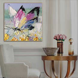 flowers art painting Australia - -1-0052#Mintura Flowers and Butterflies Framed & Unframed Home Decor Handcrafts or HD Print Oil Painting On Canvas Wall Art Canvas Pictures