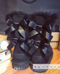 crianças tamanho adulto EU25-43 Bsig Baixo preço novos australianos botas de neve arco de couro grosso nos sapatos botas de neve tubo de algodão Gazelle em Promoiio