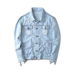 341424af179 White Denim Jacket Men Australia - 2019 West Jacket Album PABLO Denim  Jacket Washing Do Old
