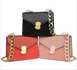 Color Leather Bags Australia - Fashion Famous Brand Chain Flap Bags Lady Designer Handbags Top quality Pure color Handbags Crossbody Bags PU Leather Messenger Bag