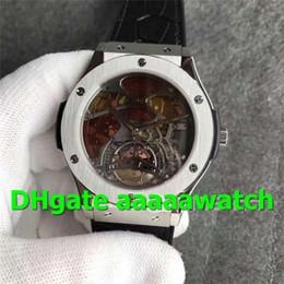 Best Skeleton Watches Men Australia - 2019 Top Luxury Watch 502.NX.0001.LR Watch A23J Hand-winding Tourbillon SS TF 1:1 Best Edition Black Red Skeleton Dial Gummy Strap Men Watch