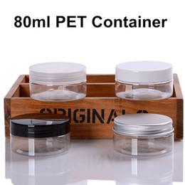 $enCountryForm.capitalKeyWord Australia - 60 X (2.7oz)80ml Clear PET Plastic Empty Cream Bottles Jars With Aluminium PP Lid