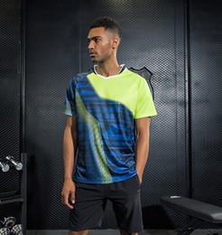 Badminton Games Australia - Sportswear sweat Quick Dry breathable badminton shirt , Women Men table tennis clothes game running training Exercise Wear T Shirts