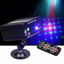 Mini Laser Stage Lighting Remote Australia - Stage light 48 design animation 3 color LED mini laser stage lighting remote KTV light all over the sky star radium shoots