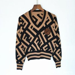 Wholesale long womans pullover for sale - Group buy 2020 designer luxury womens sweaterWomen lady s nec hococal button Long Sleeve Cardigan sweater Oversize Luxury womans clothes women jumper