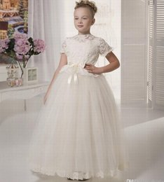 $enCountryForm.capitalKeyWord Australia - New Style Princess Pageant Flower Girl Dress Kids Wedding Party Birthday Bridesmaid Tutu Children Gown GNA45