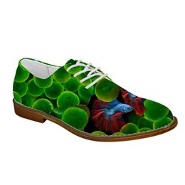 eva dress patterns UK - Noisydesigns 3D Cute Animal Fish Pattern Oxfords Shoes for Men Spring Fashion Dress Shoes Flats Men Leather Man Casual