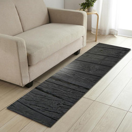 Yellow table mats online shopping - Area Rug For Living Room Anti slip Bedroom Carpets Bedside Mats Wood Pattern Sofa Table Floor Mats Washable Kitchen