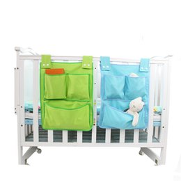 Cot Toys For Babies Australia - Cartoon Rooms Nursery Hanging Storage Bag Baby Cot Bed Crib Organizer Toy Diaper Pocket For Newborn Crib Bedding Set