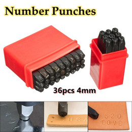 Wholesale punch letters for sale - Group buy 36pcs mm quot Steel Letter Number Stamp Punch Set Metal Stamp Secure Zip Code for Make Bag Fitting