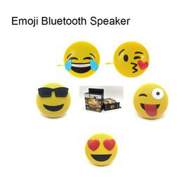 Usb Portable Games NZ - Mini Portable Emoji Emoticon Bluetooth Speaker with Stereo Bracket Sport Handsfree Audio Support Bluetooth USB AUX MP3 Game