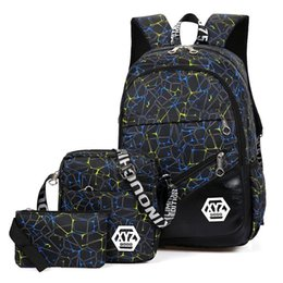 new school bag set 2019 - New 3 Pieces School Backpack Set Camouflage Printing School Bag Kids Oxford Bagpack For Teenage Boys Students Schoolbags