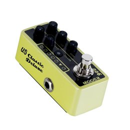 pedal mooer UK - Mooer Micro Digital Preamp 006 Classic Deluxe Delay and reverb effect pedal with 3band and 2 different modes for footswitch operation guitar