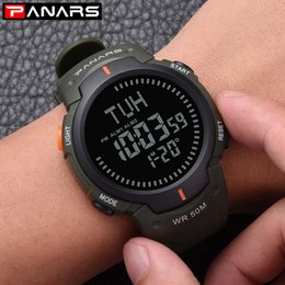 Discount watches digital compass - PANARS Men And Women Simple Fashion Digital Electronic Sports Watch Waterproof LED Outdoor Compass Watch Wholesale JUN4