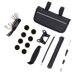 $enCountryForm.capitalKeyWord Australia - Mountain Bike Puncture Repair Multi Function 16 In 1 Repairing Tool Suit Black Portable Practical Tyre Pump 29 5jkD1