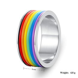 Ss Rings Australia - Rainbow Finger Silicone Tire Shape SS Skin Hoop Silicon Rubber Band Ring For Mech Protection Vape Mod Vape Vaporizer RDA Tanks Decorate