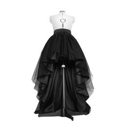 0a222b934 High Low Black Tulle Skirt Asymmetrial Hem Tutu Layered Wedding Bridal Gown  High Waist Pleated Prom Skirt Gala Stylish Saia Y19043002