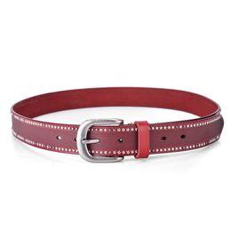 Star Belts Australia - Luxury Red Casual Belts Designer Stars Fancy Waistbands Woman Fashion Shorts Belts Jeans Leather Waist Straps Ladies Classic Chastity Belt