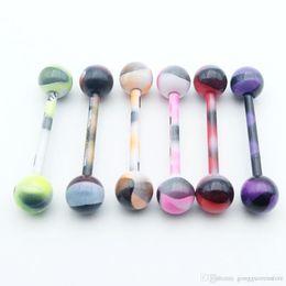 $enCountryForm.capitalKeyWord NZ - 50pcs Lot Titanium steel Lip Tongue nail Piercing Septum Industrial Barbell Flesh Tunnels Ear Plugs Ear Expanders Body Jewelry