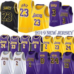 NACC 23 LeBron James 3 Davis Maillots Los Angeles Laker 0 Kuzma 24 Kobe Lonzo 2 Ball Kyle 14 Ingram 8 Bryant Maillot en Solde