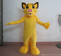 b9a0415fa Professional yellow little lion mascot costume for adult to wear simba lion  mascot suit