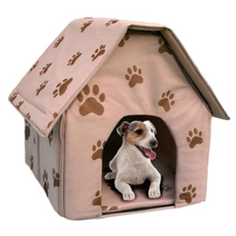 Wood Small Houses Australia - Gomaomi Portable Folding Dog House Cat Bed for Small Dog Puppy Pet Supply