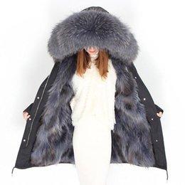 $enCountryForm.capitalKeyWord Australia - Women Winter Parkas Nice Oversized Thicken Warm Cotton Real Raccoon Fur Collar Liner Coat Women Long Sleeve Long Jackets