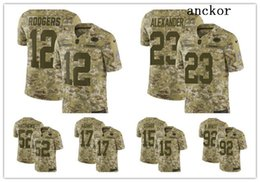 dbe3945b6 Green Bay MEN WOMEN YOUTH 12 Aaron Rodgers 52 Clay Matthews Limited Home Jersey  Football Packers Camo 2018 Salute to Service