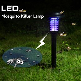 Wholesale Mosquito Repellent Killer Lamp Solar Powered Outdoor Garden LED Light Mosquito Pest Bug Zapper Insect KillerPath Lighting