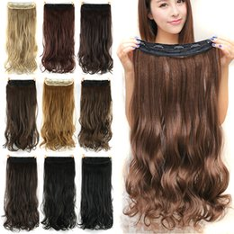 Wavy hair perm online shopping - 60cm Long Synthetic Hair Clip In Hair Extension Heat Resistant Hairpiece Natural Wavy Hair Piece