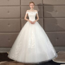 $enCountryForm.capitalKeyWord NZ - Wholesale one shoulder wedding dress, new palace princess show thin, large size, simple and light out the gauze girl