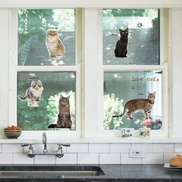 $enCountryForm.capitalKeyWord Australia - New 3D Cartoon Vivid Cats Wall Stickers For Kids Baby Rooms Poster Home Decor Cabinet Stove Window Wall Decals DIY PVC Art Mural