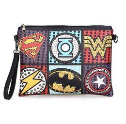 Multi Color Ladies Handbags UK - Retro Envelope Clutch Pu Leather Clutch Bag Lady Rivet Punk Handbag Messenger Bags Women Super Hero Crossbody Bags For Women Y19061301