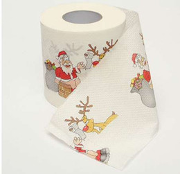 Christmas Tables Canada - 2019 Santa Claus Reindeer Christmas Toilet Paper Christmas decorations for Table New Year Home Decor Gifts Souvenirs
