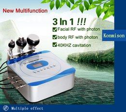 Ultrasonic High Frequency Machine Australia - New Arrival High Quality 3 in 1 40K Ultrasonic Cavitation 5Mhz Radio Frequency And Red Led Light Face And Body Beauty Machine
