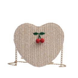 $enCountryForm.capitalKeyWord UK - Bags For Women Summer Fashion Pure Color Messenger Bags Heart-Shaped Small Mobile Phone Bag Cherry Versatile Canta %