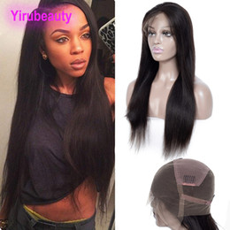 $enCountryForm.capitalKeyWord Australia - Indian Full Lace Wigs Pre Plucked Straight Human Hair Natural Color Silky Straight Virgin Hair Full Lace Wigs 8-34 Inch