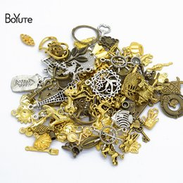 pendants grams Australia - Jewelry & Accessories BoYuTe (50 Gram Lot) Mix Styles Metal Alloy Pendant Charms Diy Hand Made Vintage Jewelry Accessories