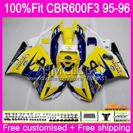 $enCountryForm.capitalKeyWord Australia - 100%Fit Injection For HONDA CBR600RR CBR 600F3 CBR 600 F3 95 96 77HM.3 CBR600FS CBR600 F3 FS CBR600F3 1995 1996 Hot Blue CORONA OEM Fairing