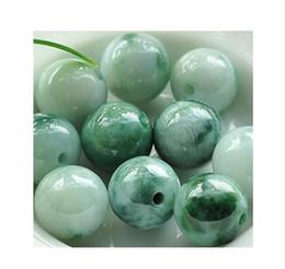Venta al por mayor de 50 unidades de Birmania esmeraldas naturales flores de hielo perlas flotantes DIY semi flor flotante de jade perlas pulsera collar joyería