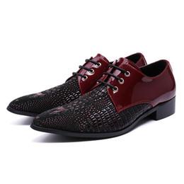 $enCountryForm.capitalKeyWord UK - Fashion Luxury Italian Pointed Toe Derby Man Dance Footwear Genuine Leather Alligator Men's Modern Wedding Party Shoes