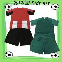 Vente en gros 2019/20 Kit Athletic Bilbao Club Enfants 2019 MUNIAIN WILLIAMS BENA Maillot de foot Enfant Garçons I.MARTINEZ YURI B. ADURIZ Uniforme de Football
