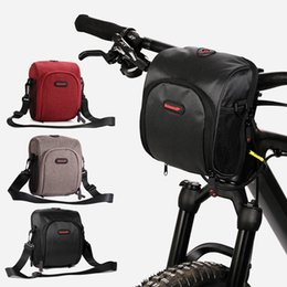 waterproof bike panniers Canada - Bicycle Bags Bike Cycling Outdoor Waterproof Polyeste Front Basket Pannier Frame Tube Handlebar Bag Black include strap