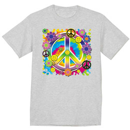 $enCountryForm.capitalKeyWord Australia - big and tall t-shirt for men hippie peace sign flower child tall tee shirt men's Casual male tshirt, men tops tees, Free shipping tees