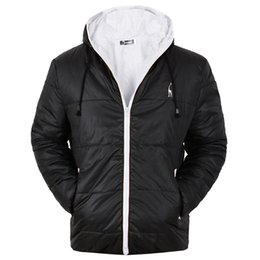 asian winter coats 2019 - Mens Designer Winter Coat Casual Down Jacket Solid Color Athletic Thin Windbreaker Polyester Parkas Asian Size discount