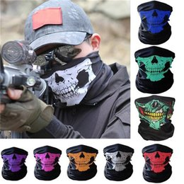 $enCountryForm.capitalKeyWord Australia - Halloween 3D Outdoor Skull Sport Mask Neck Warm Full Face Mask Windproof Dustproof Motorcycle Bicycle Cycling Ski Snowboard