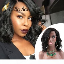 short wavy hair styles NZ - Bob Style Hair Wigs Short Cut Wavy Natural Black Lace Wig Human Hair Full Lace Wig Front Lace Wig For Black Women BellaHair